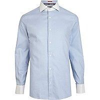 Blue Life of Tailor houndstooth shirt