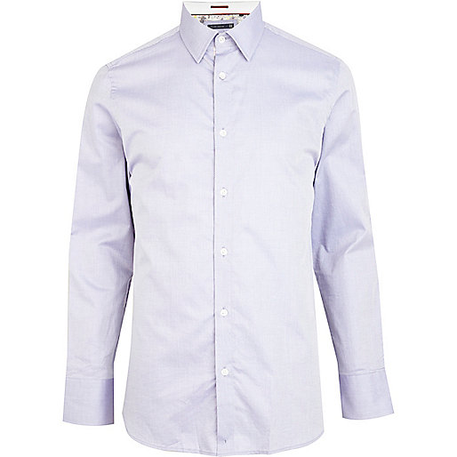 Lilac Life Of Tailor long sleeve Oxford shirt