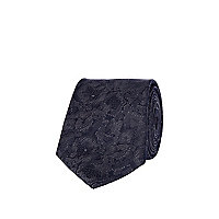 Navy print Life of Tailor tie