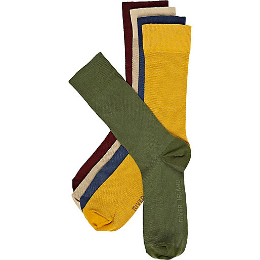 Multicoloured textured ankle socks pack