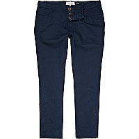 Navy skinny stretch trousers