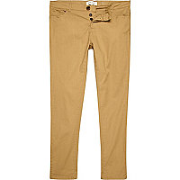 Light brown skinny stretch trousers