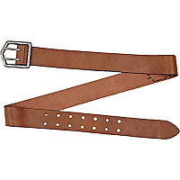 Light brown double prong belt