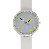Grey silicon minimal watch