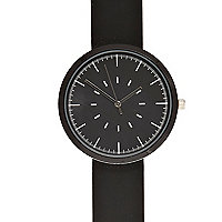 Black silicon minimal watch