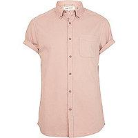 Light pink short sleeve shirt