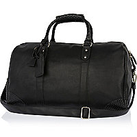 Black Life of Tailor contrast trim holdall
