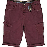 Berry red cargo shorts