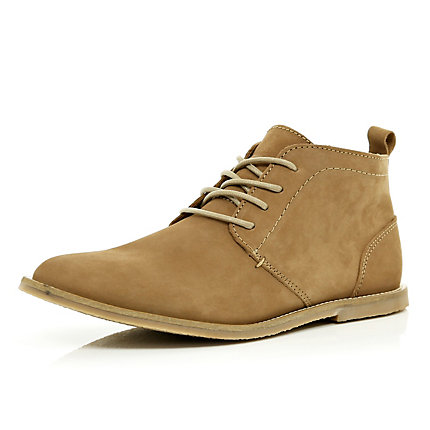 Brown lace up chukka boots