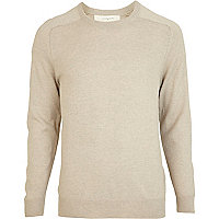 Ecru elbow patch jumper