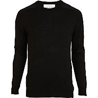Black elbow patch jumper