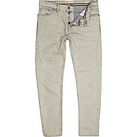 White acid wash Flynn skinny jeans
