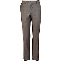 Grey Life Of Tailor checked suit trousers