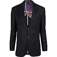 Navy Life of Tailor flannel blazer