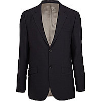 Navy smart classic suit jacket