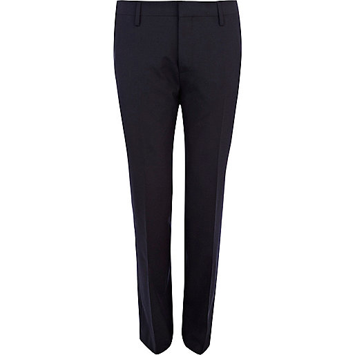 Navy smart classic suit trousers