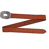 Brown Joe's Bar plate buckle belt