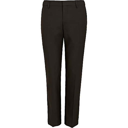 Brown slim suit trousers