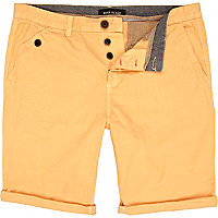 Orange pastel chino shorts
