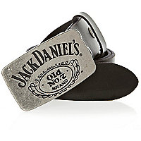 Black leather Jack Daniels belt