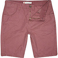Dark pink pocket detail shorts