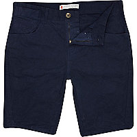 Navy blue pocket detail shorts