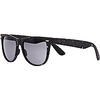 Grey painted print retro sunglasses