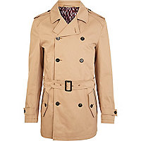 Brown belted smart jacket