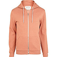 Orange zip up hoodie