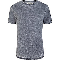 Grey burnout crew neck short sleeve t-shirt