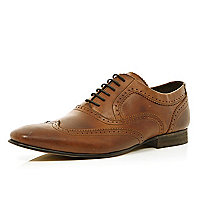 Brown Base London smart lace up brogues