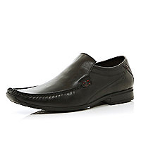 Black Base London smart moccasin shoes