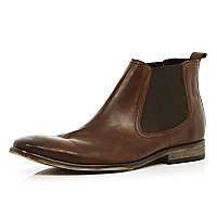 Brown Base London chelsea boots