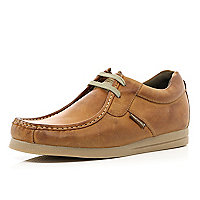 Brown Base London smart moccasin shoes
