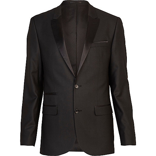 Black slim tux suit jacket