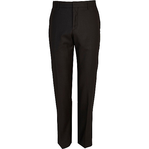 Black slim tux suit trousers