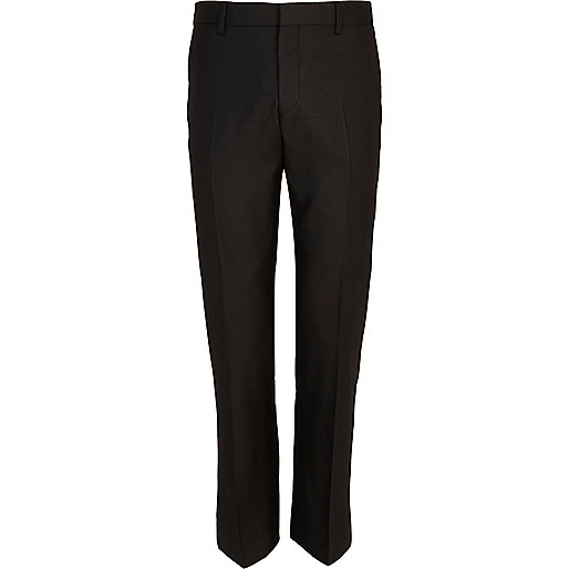 Black slim suit trousers