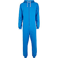 Blue Chelsea Peers zip up hooded all-in-one