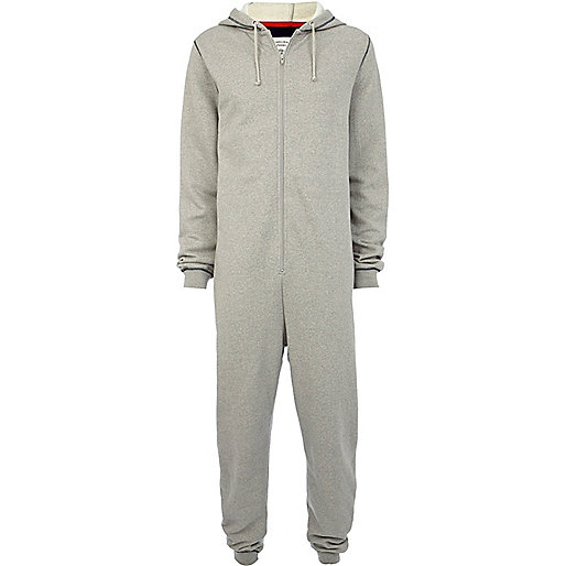 Grey Chelsea Peers zip up all-in-one