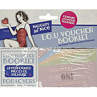 Novelty IOU voucher booklet