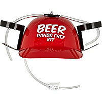 Red beer helmet