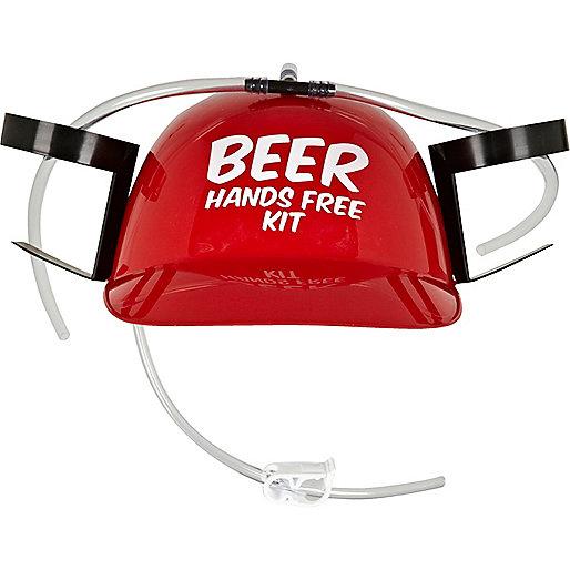 Red beer helmet