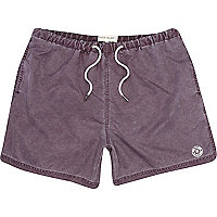 Purple washed swim shorts