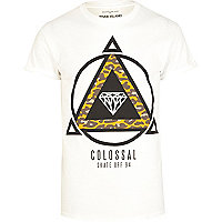 White colossal skate print t-shirt
