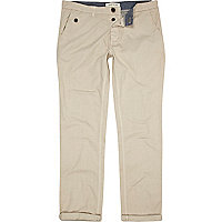 Stone slim casual chinos
