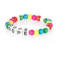 Multicoloured bead dope bracelet
