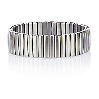 Grey metal stretch bracelet
