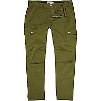 Green cargo trousers