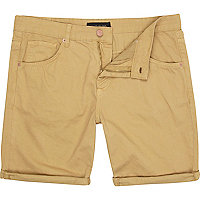 Brown pocket detail shorts