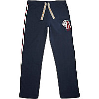 Navy American Freshman logo print sweat pants